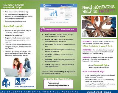 Homework help hwdsb
