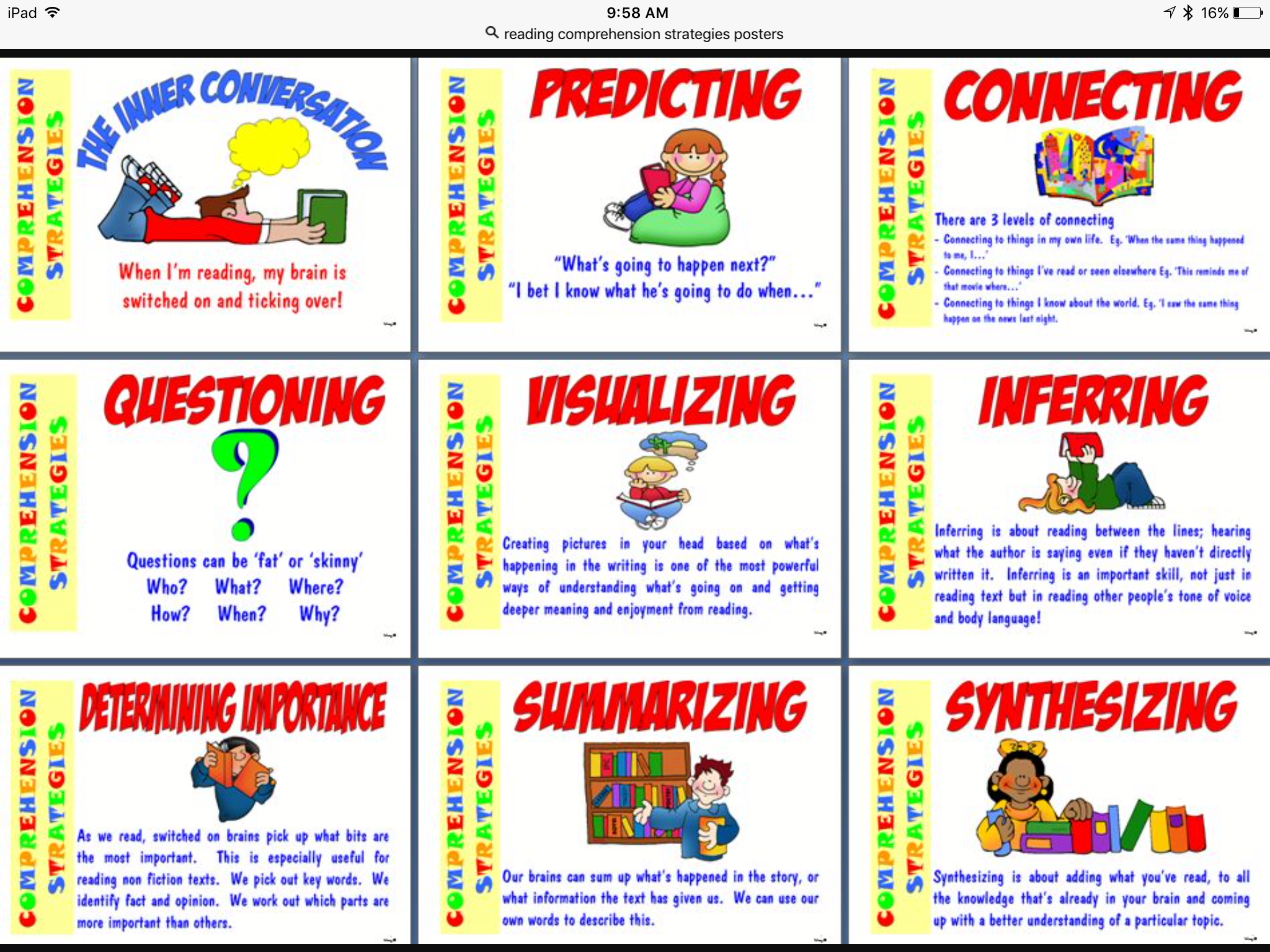 - Reading Comprehension Strategies Poster – Class F5A