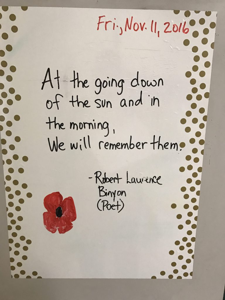 Remembrance Day Fawcetts Class